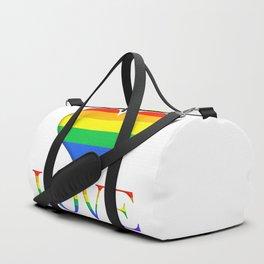 Pride Heart and Love Minimalist Art Duffle Bag