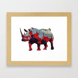 Colorful Rhino Art Framed Art Print