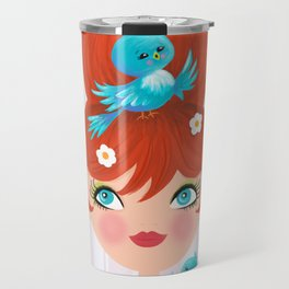 Bluebirds Alight On A Lovely Lady Travel Mug