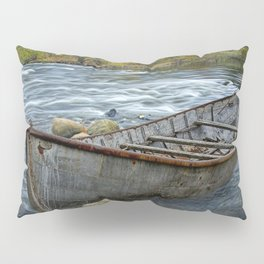 Canoe on the Thornapple River in Autumn Pillow Sham