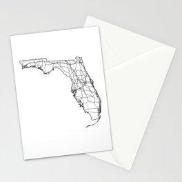 Florida White Map Stationery Cards