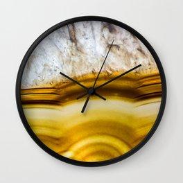 Amber Honey Agate Earth Wall Clock
