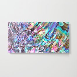 Shimmery Rainbow Abalone Mother of Pearl Metal Print