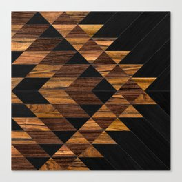 Urban Tribal Pattern 11 - Aztec - Wood Canvas Print