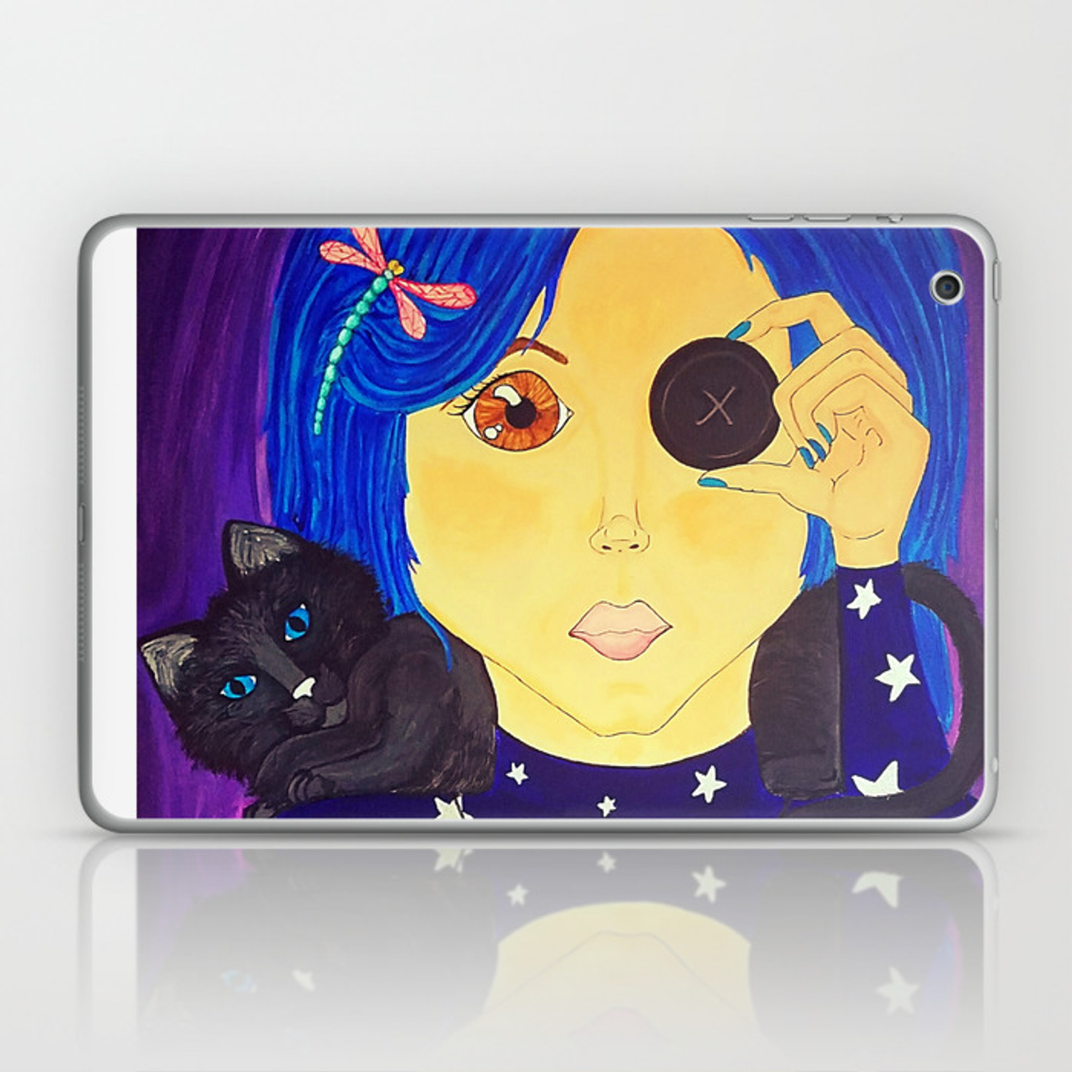 Be Brave Coraline Fan Art Laptop Ipad Skin By Crypticcharm Society6