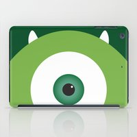monsters inc iPad Cases featuring PIXAR CHARACTER POSTER - Mike Wazowski - Monsters, Inc. by Marco Calignano