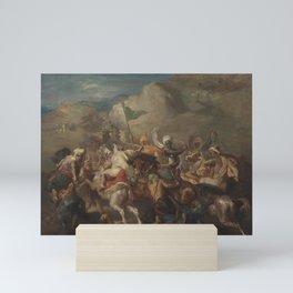Theodore Chasseriau - Battle of Arab Horsemen Around a Standard Mini Art Print