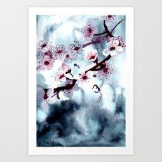 Fading Sakura Art Print