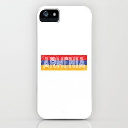 Armenian National Flag Vintage Armenia Country Gift iPhone Case
