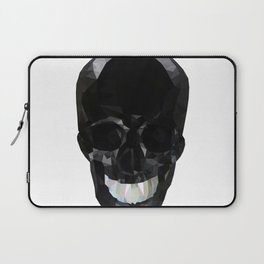 Skull Black Low Poly Laptop Sleeve