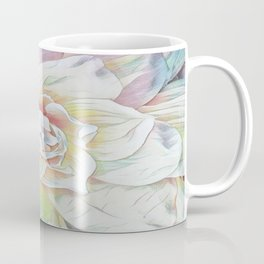 Soft Pastel Floral Expression Coffee Mug