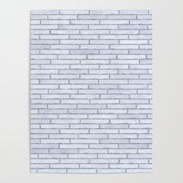 White Brick Wall Poster