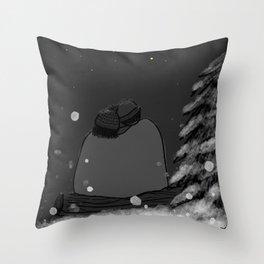 Winter Stargazing Throw Pillow