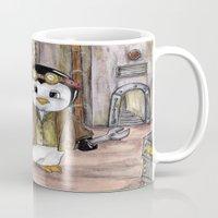engineer Mugs featuring Penguin Engineer by Tanya Davis Art