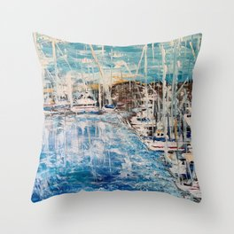 Dana Point Marina Southern California Throw Pillow