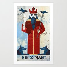 The Hierophant Art Print