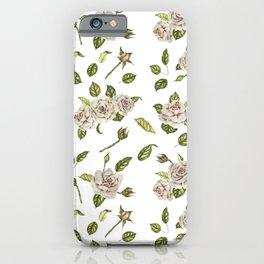 Roses pattern iPhone Case