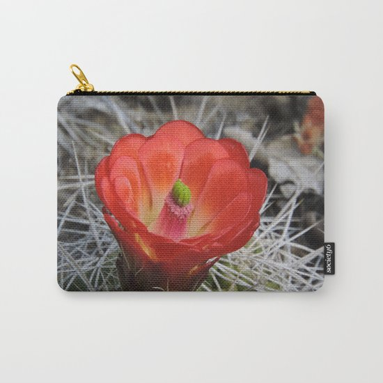 Red Blossom on a Hedgehog Cactus Carry-All Pouch