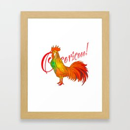 Cocorico 3 Framed Art Print