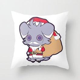 Santa Espurr Again Throw Pillow