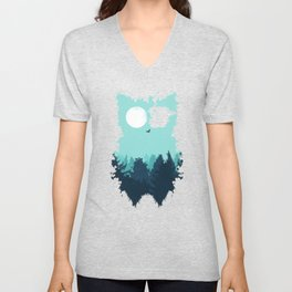 Winter Owl Unisex V-Neck