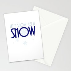 Let It Snow Snowflake Stationery Cards