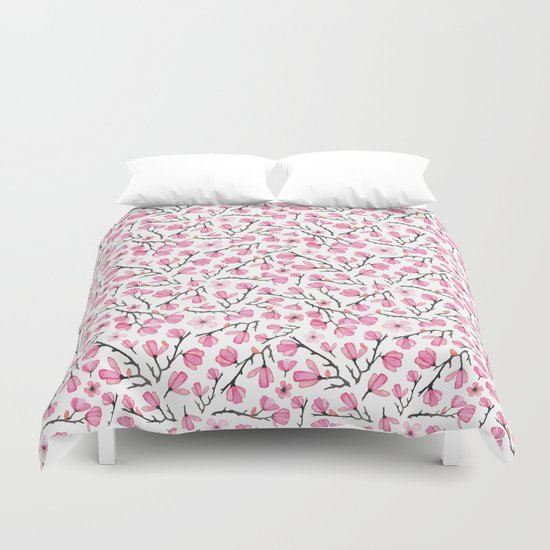 Pink Cherry Blossom Duvet Cover By Elena O Neill Society6