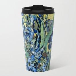 1890-Vincent van Gogh-Irises-73,5x92 Travel Mug