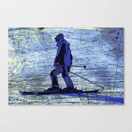 Sundown Skier Canvas Print