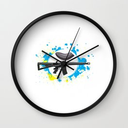 100% To Play Paintball Game Paintball Player Gift Wall Clock