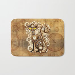 Steampunk Cat Vintage Style Bath Mat