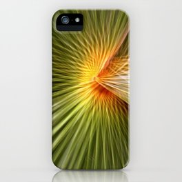 Palm leaf zoom iPhone Case