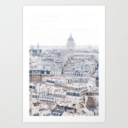 Paris Pantheon from Notre Dame Cathedral Art Print