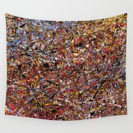 ELECTRIC 071 - Jackson Pollock style abstract design art, abstract painting Wall Tapestry