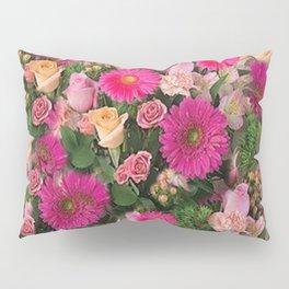 PINK FLOWERS GARDEN PUCE ART PATTERNS Pillow Sham