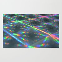 hologram Area & Throw Rugs featuring Laser Paper by Griffin Lauerman