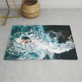 Waves and Sunshine from above – Ocean Photography Rug