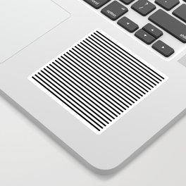 Black And White Stripes Breton Nautical Minimalist Sticker