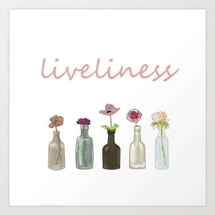 livelinerss . lettering Art Print