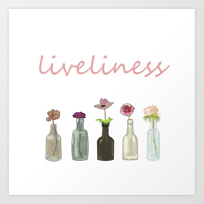 livelinerss . lettering . artwork Art Print