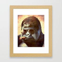 Gorilla in the Mist Framed Art Print