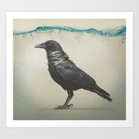 band Art Prints featuring Raven Band by Vin Zzep