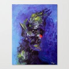 Gloomy Clown Canvas Print