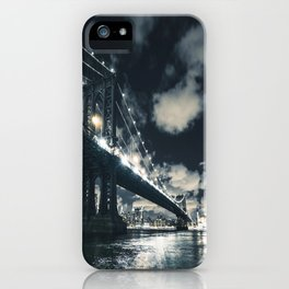 manhattan bridge in nyc iPhone Case