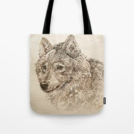 The Gray Wolf's Gaze Tote Bag