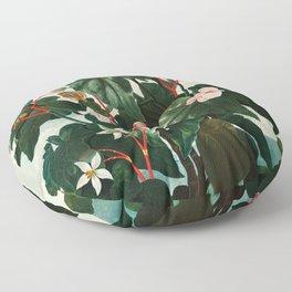 Robert John Thornton - The Oblique–Leaved Begonia Floor Pillow