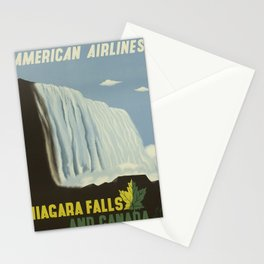 Vintage poster - Niagra Falls and Canada Stationery Cards