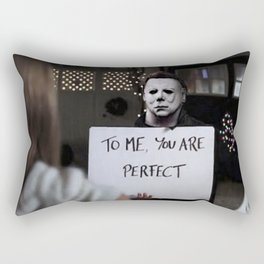 Michael Myers in Love Actually Rectangular Pillow