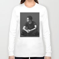 bucky barnes Long Sleeve T-shirts featuring Bucky Barnes by E Cairns Art