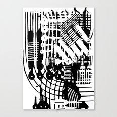 Linhas Cruzadas Canvas Print